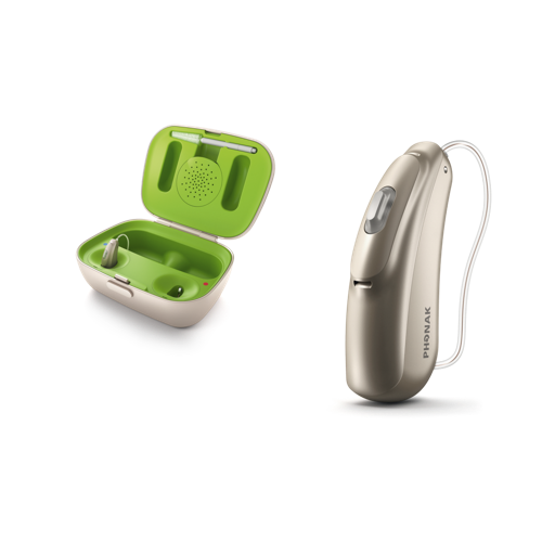 Phonak Audeo B50 Hearing Instrument and case